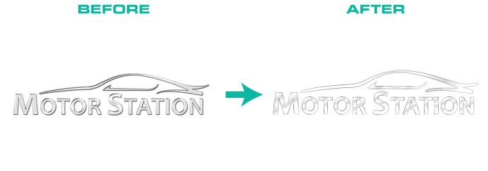 Gradient vector logo