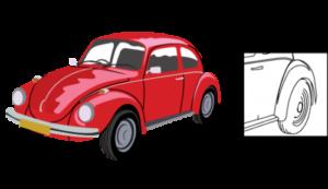 manually drawn vector