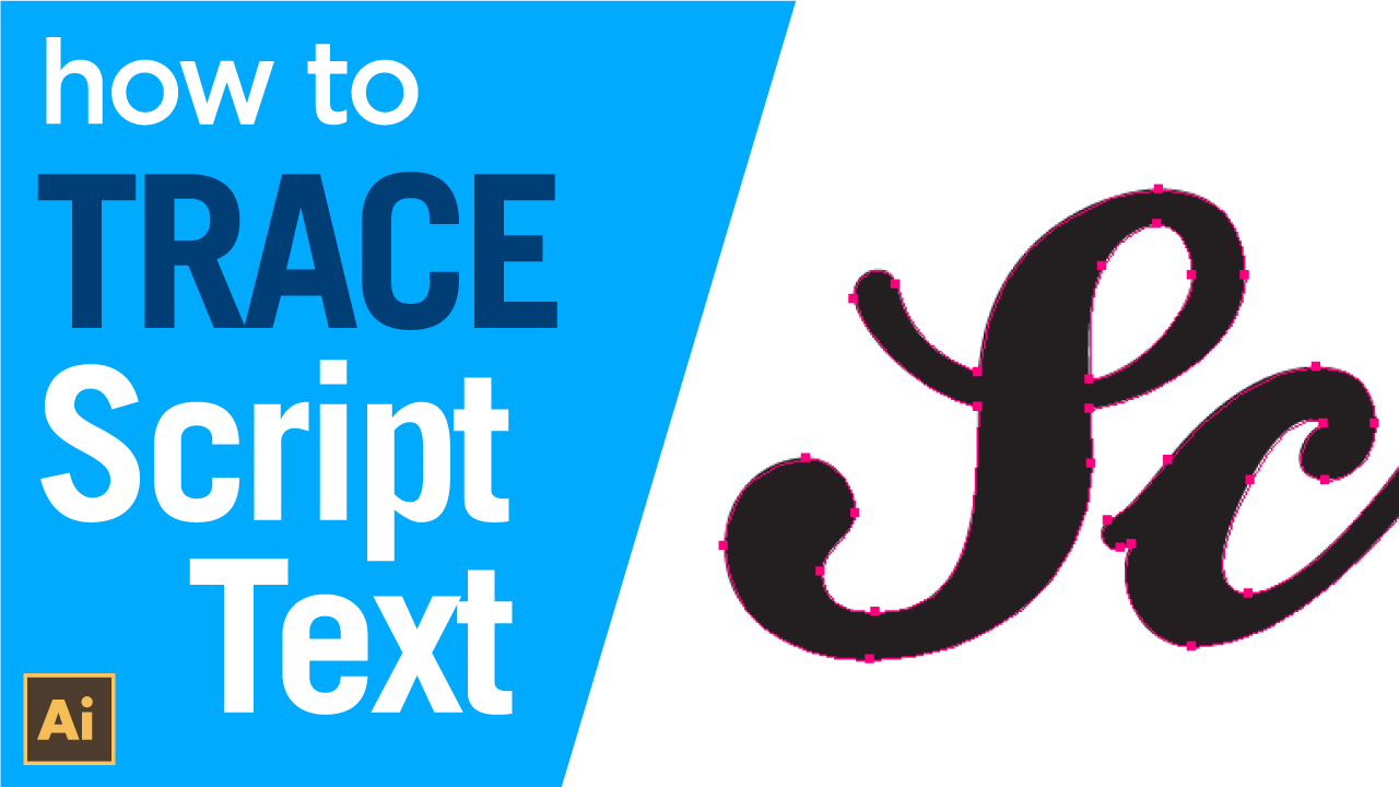 How to manually trace script text in Adobe Illustrator using the pen tool