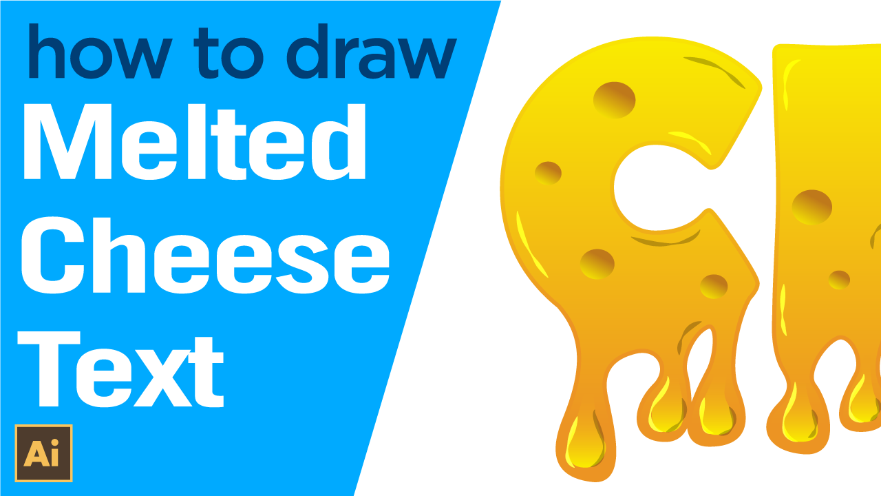How to draw Melted Cheese Text effect in Illustrator
