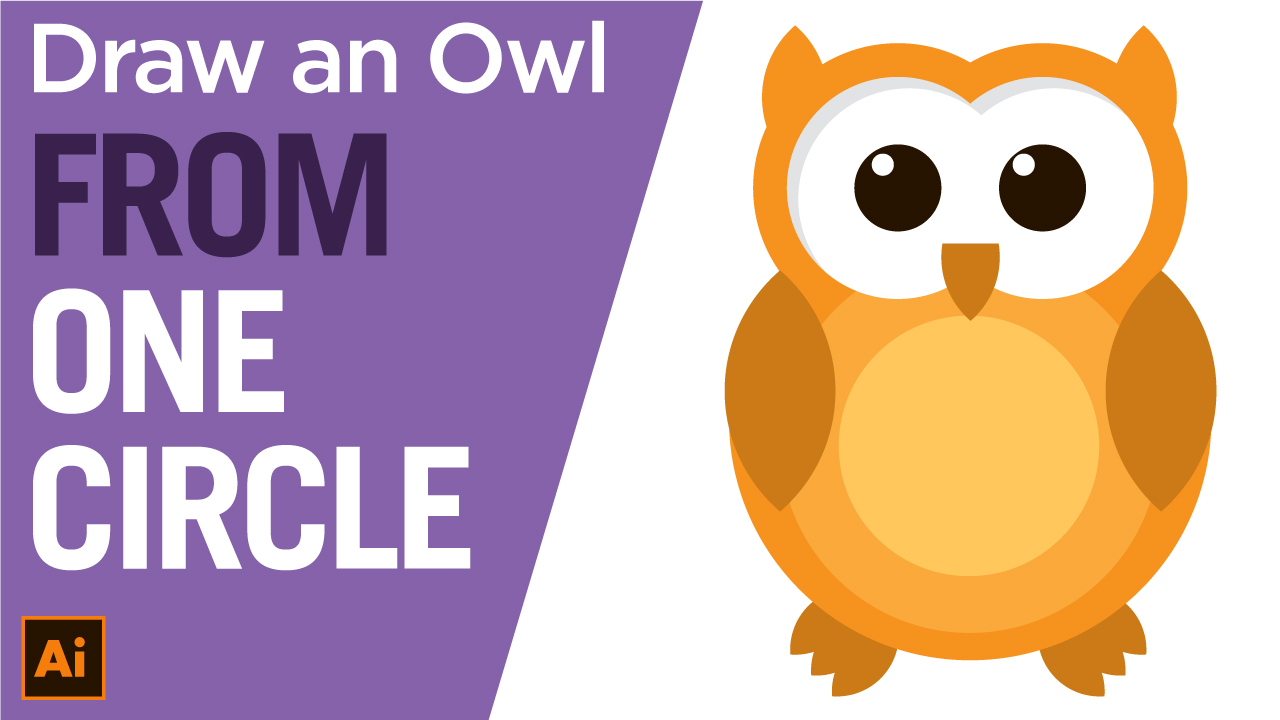 How to draw an Owl logo in Vector