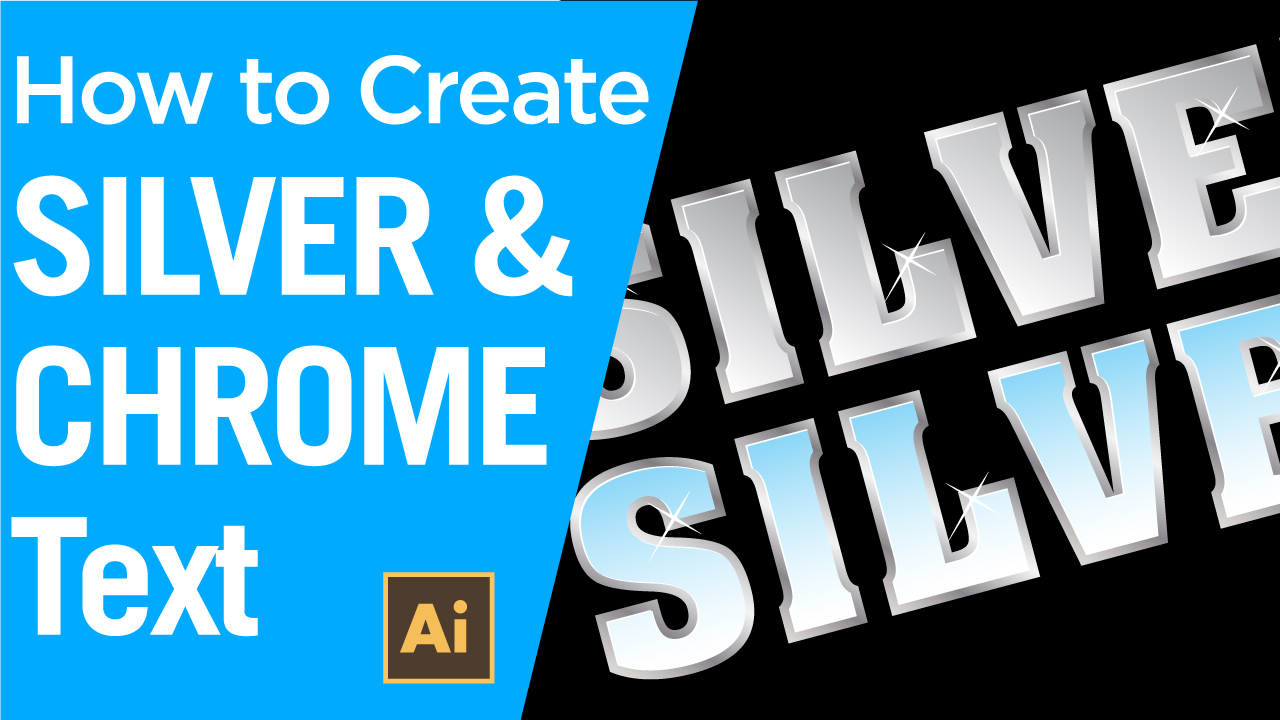 How to create silver and chrome text using Adobe Illustrator