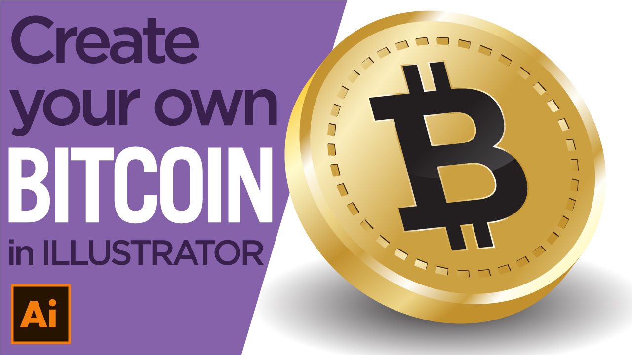 How to draw a gold 3D Bitcoin using Adobe Illustrator