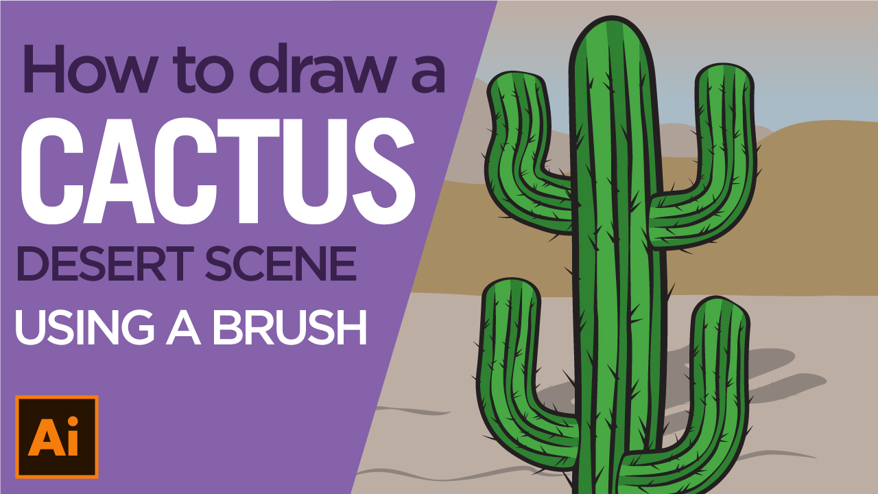 How to draw a cactus using Illustrator