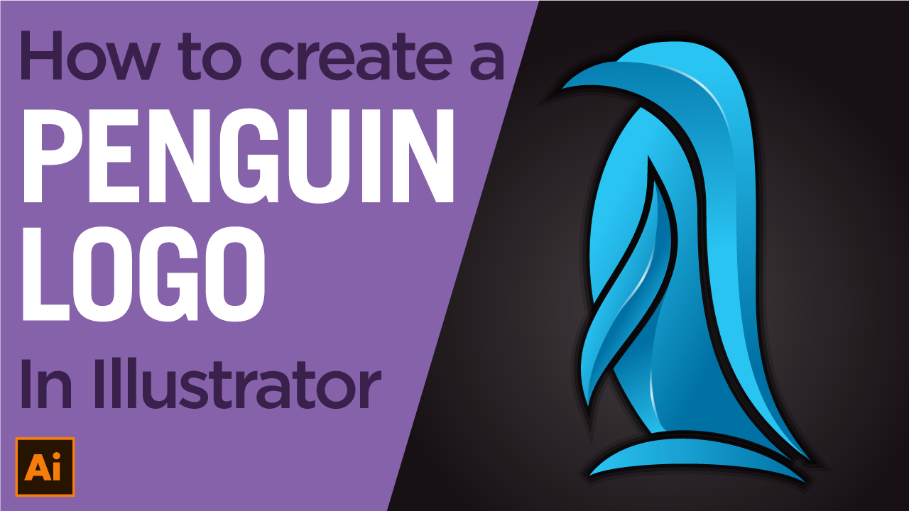 How to create a Penguin logo from a sketch in Illustrator