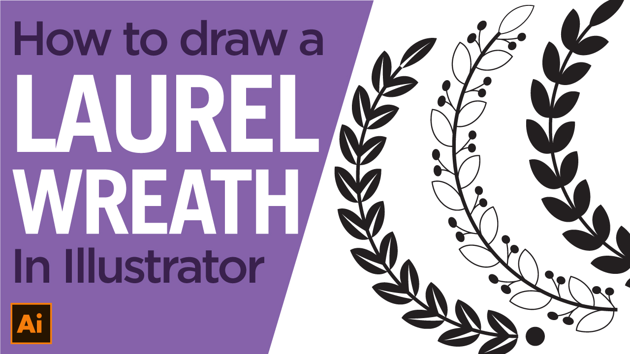 How to draw a laurel wreath in Illustrator easily