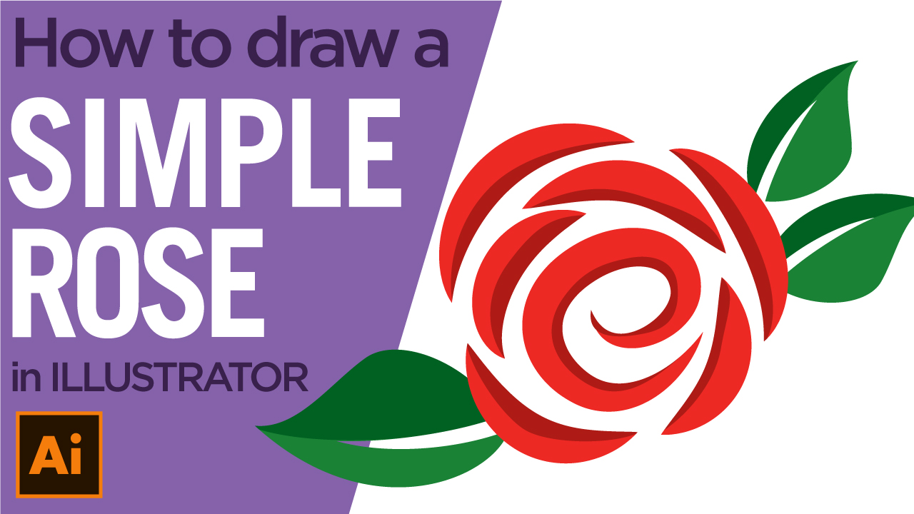 How to draw a rose in Illustrator