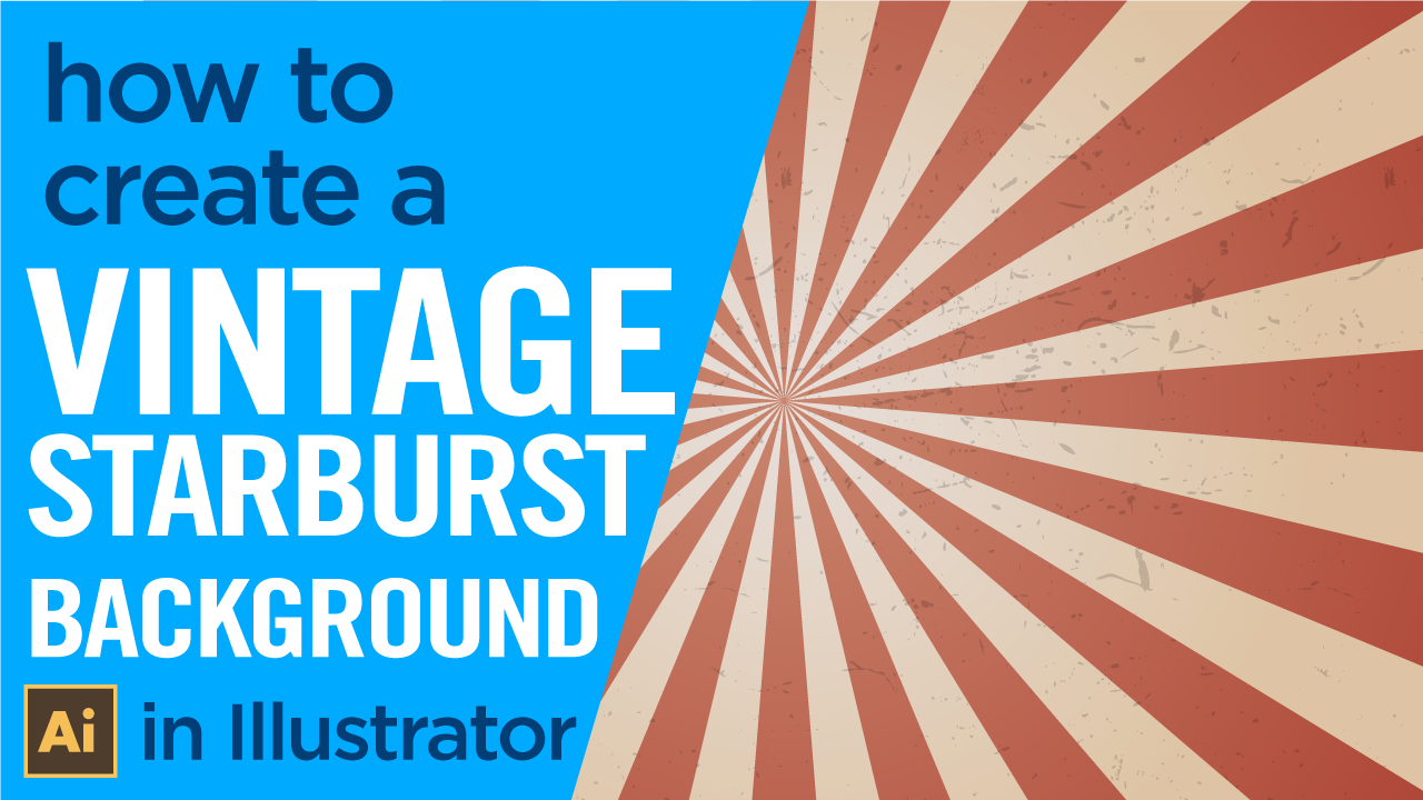 How to create a vintage starburst background in Adobe Illustrator, easily.