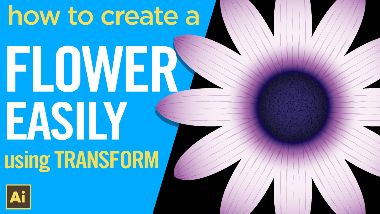 How to create a flower easily using the transform effect in Illustrator