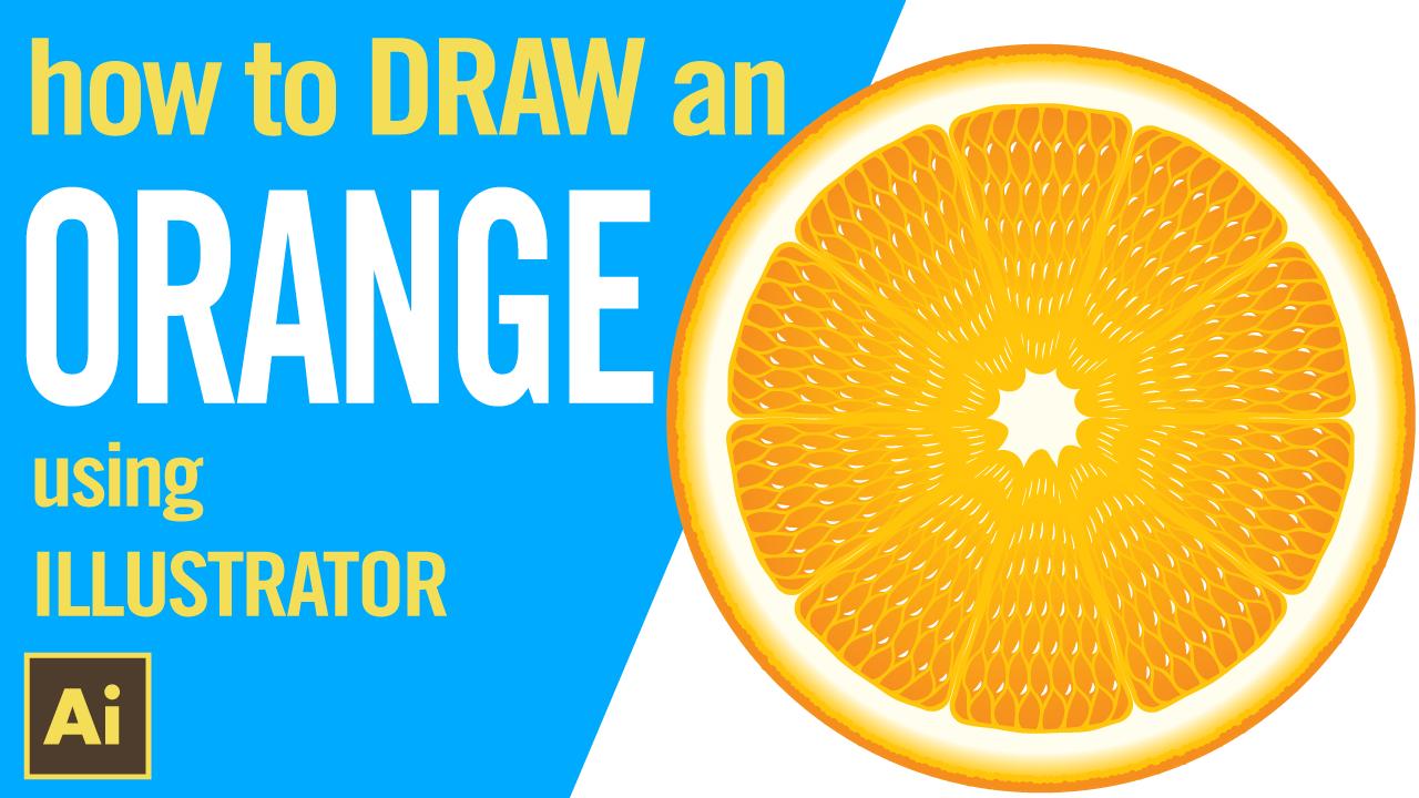 How to draw an ORANGE using Illustrator