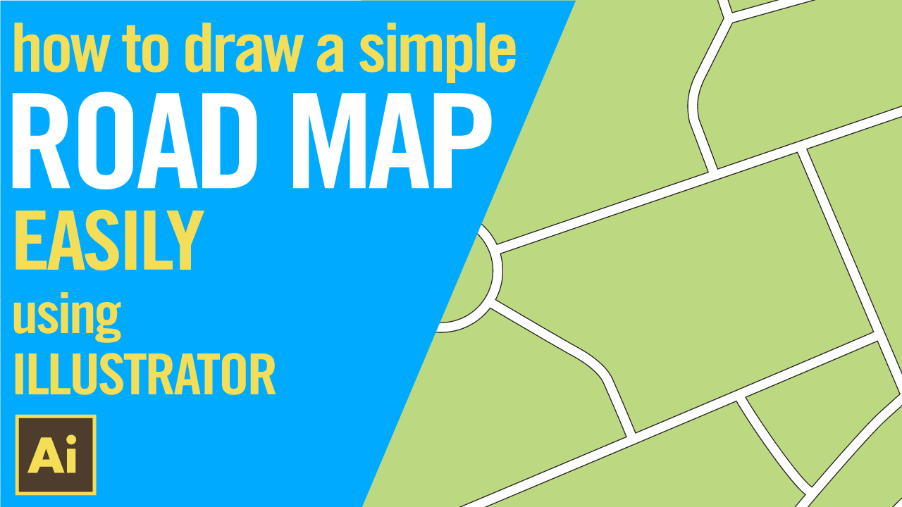 How to draw a simple road map using Illustrator, EASILY