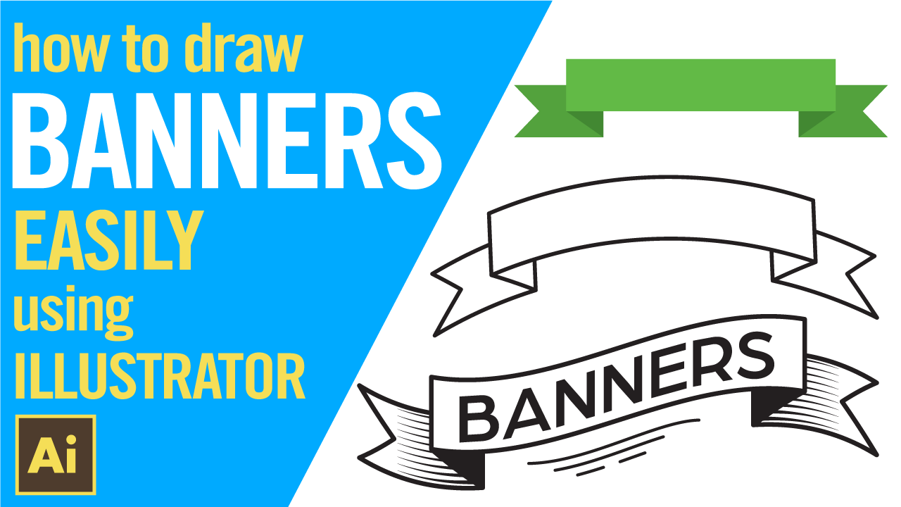 How to draw banners in Adobe Illustrator