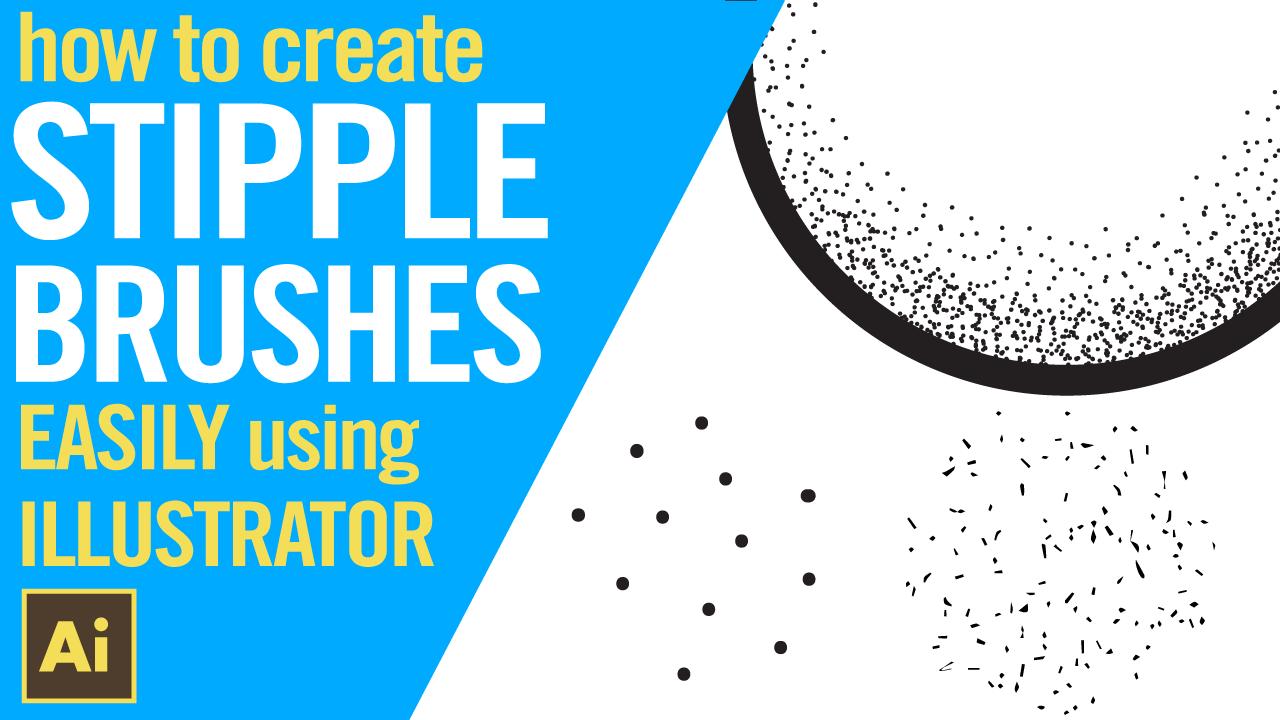 How to create stipple brushes easily in Illustrator. 2 EASY METHODS