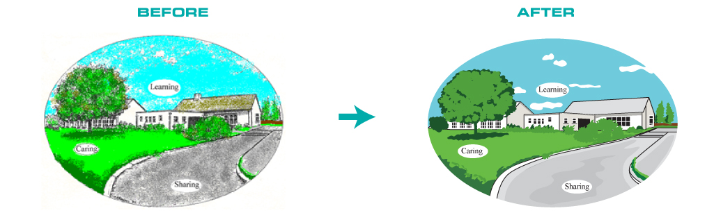 Converting Textured Images into Vector